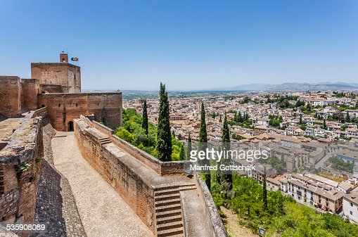 Granada view from the Alcazaba : Foto de stock