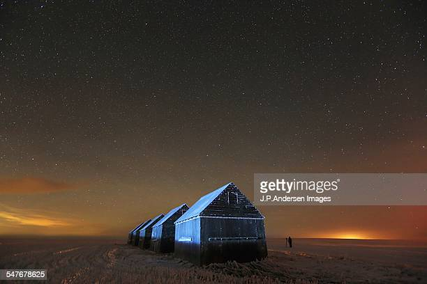 5 granaries at night