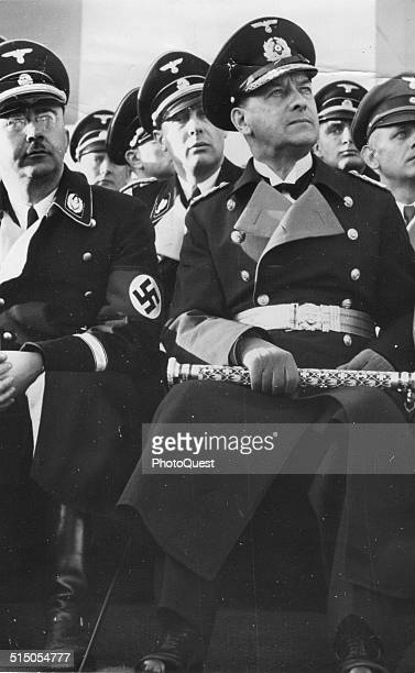 Grand Admiral Erich Albert Raeder and Heinrich Himmler at a Nazi rally Germany 1930's