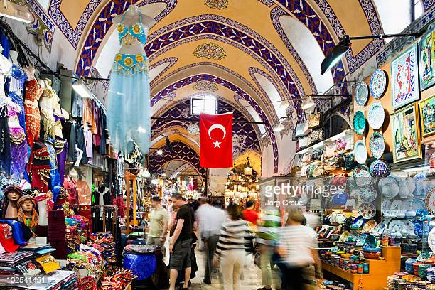 Grand Bazaar and Turkish flag