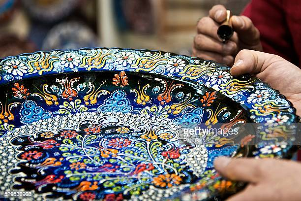 Grand Bazaar, handpainted turkish ceramic plates