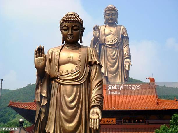 Grand buddha, bronze statue