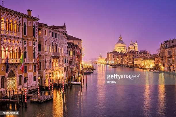 Grande Canal e de Santa Maria della Salute em Veneza