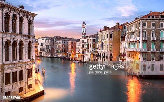 Grand Canal, Behind Rialto Bridge, Venice, Italy