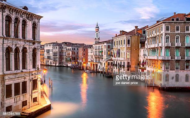 Grand Canal, Behind Rialto Bridge, Venice, Italy