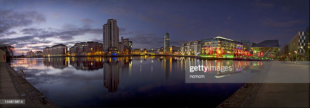 Panorama view of Grand canal dock.