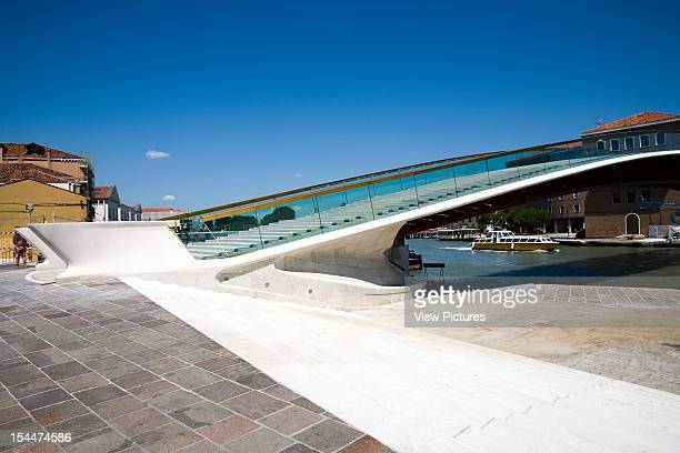 Grand CanalItaly Architect Venice Constitution Bridge Side View From The Piazza Roma