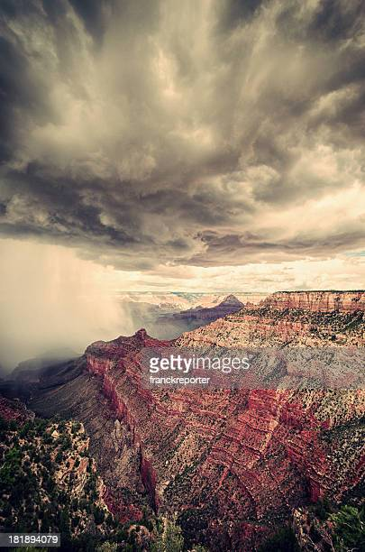 Grand Canyon national park on arizona during a storm
