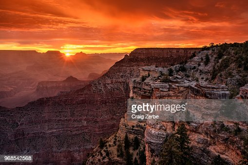 Grand Canyon Sunrise at Mather Point : Stock Photo