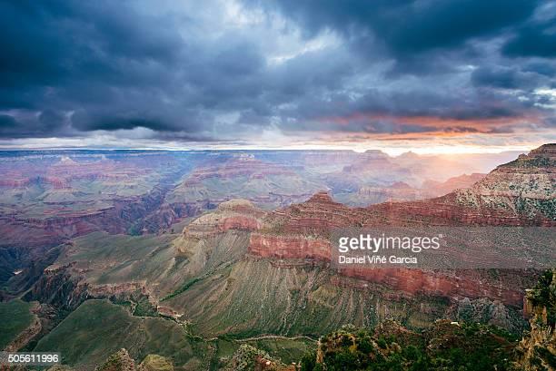 Grand Canyon Sunrise in Mather Point, Arizona, USA