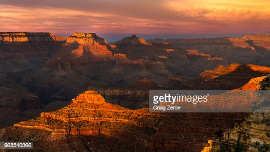 Grand Canyon Sunset at Mather Point : Stock Photo