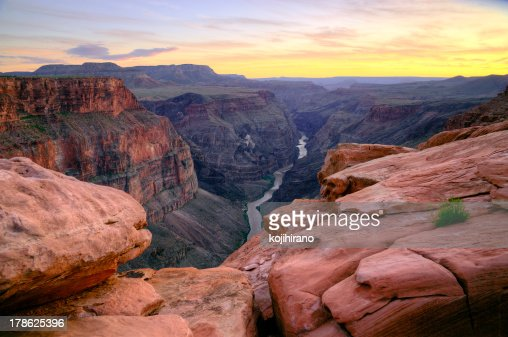 Grand Canyon - Toroweap Point after sunset : Stock Photo