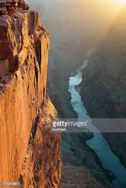 Grand Canyon Toroweap Point Morning Sunlight
