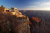 Hopi house in early morning light on the south rim of the Grand Canyon.