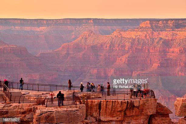 point de vue du Grand canyon en Arizona, États-Unis au coucher du soleil