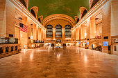 A stacking of long exposure shots to create an empty Grand Central Station. New York City, NY