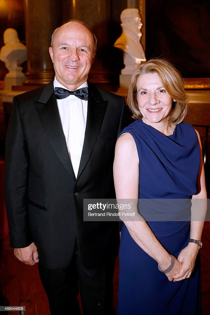 Grand Chancellor of the Legion of Honour General Jean-Louis Georgelin and President of the Versailles Castle, Catherine Pegard attend Pasteur-Weizmann Gala at Chateau de Versailles on November 18, 2013 in Versailles, France.