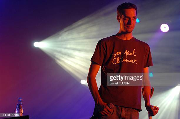 Grand Corps Malade at the 32nd Paleo Music Festival in Nyon Switzerland on July 26th 2007