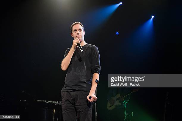 Grand Corps Malade performs at Le Triaon on June 17 2016 in Paris France
