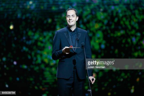 Grand Corps Malade speaks on stage during the Cesar Film Awards Ceremony at Salle Pleyel on February 24 2017 in Paris France