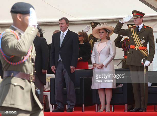 Grand Duchess Maria Teresa and Grand Duke Henri of Luxembourg assist National Day Celebrations on June 23 2012 in Luxembourg Luxembourg
