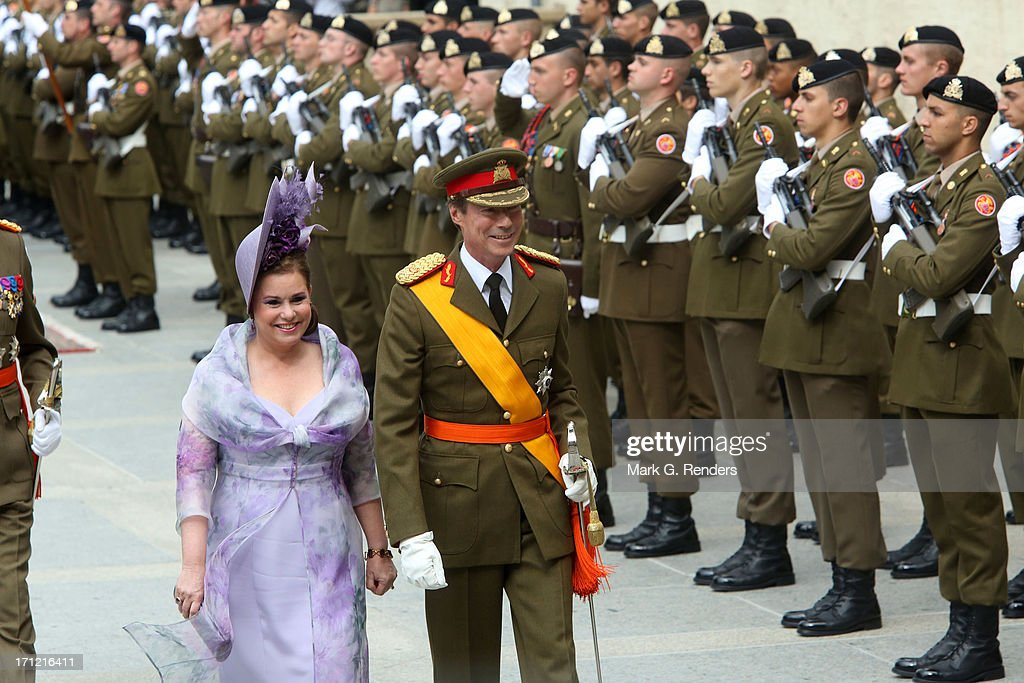 <a gi-track='captionPersonalityLinkClicked' href=/galleries/search?phrase=Grand+Duchess+Maria+Teresa&family=editorial&specificpeople=159000 ng-click='$event.stopPropagation()'>Grand Duchess Maria Teresa</a> of Luxembourg and Grand Duke Henri of Luxembourg celebrate National Day on June 23, 2013 in Luxembourg, Luxembourg.