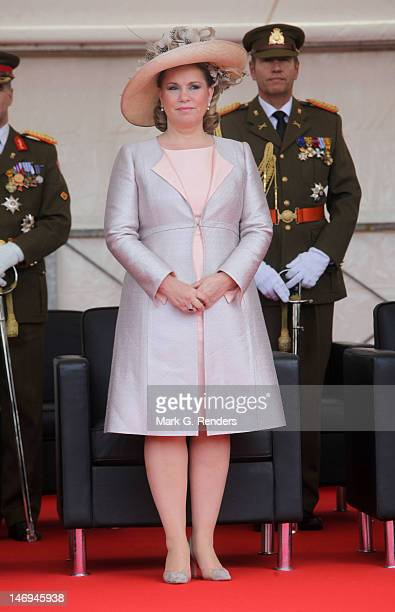 Grand Duchess Maria Teresa of Luxembourg assists National Day Celebrations on June 23 2012 in Luxembourg Luxembourg