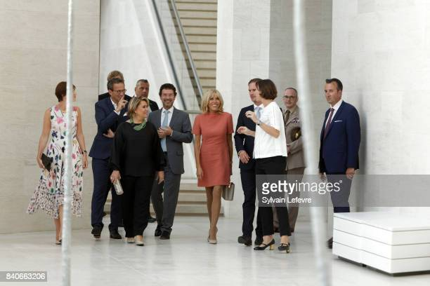 Grand Duchess Maria Teresa of Luxembourg Brigitte MacronTrogneux France's first lady and Luxembourg Prime Minister's husband Gauthier Destenay visit...