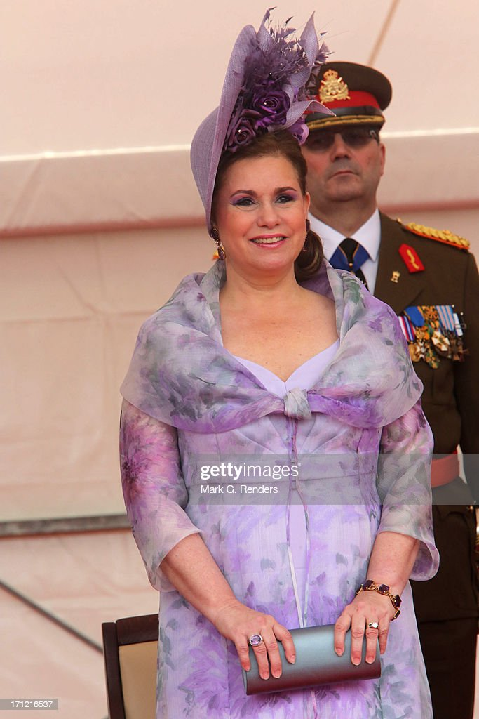 <a gi-track='captionPersonalityLinkClicked' href=/galleries/search?phrase=Grand+Duchess+Maria+Teresa&family=editorial&specificpeople=159000 ng-click='$event.stopPropagation()'>Grand Duchess Maria Teresa</a> of Luxembourg celebrates National Day on June 23, 2013 in Luxembourg, Luxembourg.
