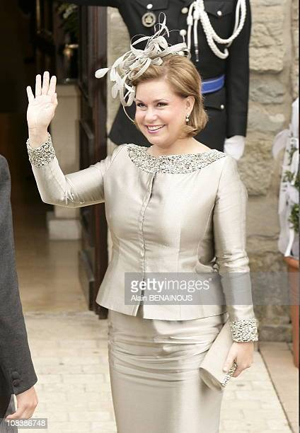 Grand Duchess Maria Teresa of Luxembourg in Luxembourg on September 29 2006