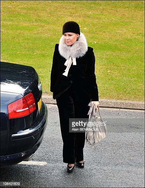 Grand Duchess MariaTeresa of Luxembourg in Douaumont France on November 11 2008