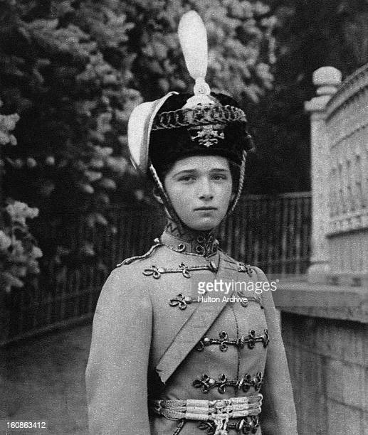 Grand Duchess Olga Nikolaevna of Russia in the uniform of the Russian Hussars of which she is ColonelinChief circa 1915 She is the eldest child of...