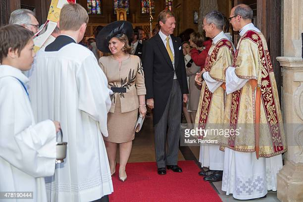 Grand Duchesse Maria Teresa and Grand Duke Henri of Luxembourg assist National Day on June 23 2015 in Luxembourg Luxembourg