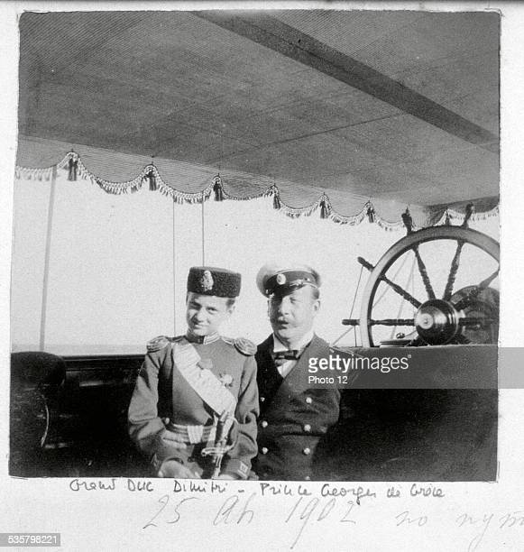 Grand Duke Dmitri and Prince George of Greece Grand Duke Dmitri Constantinovich Prince George of Greece and Denmark