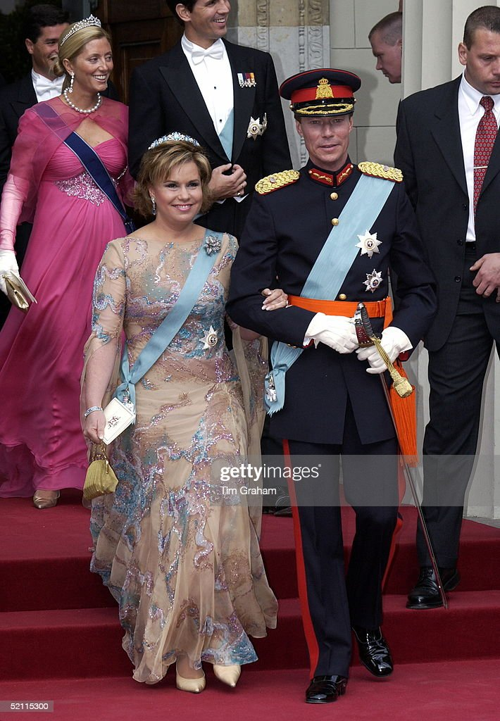 Grand Duke Henri And Grand Duchess Maria Teresa Of Luxembourg At The Royal Wedding In Copenhagen Cathedral