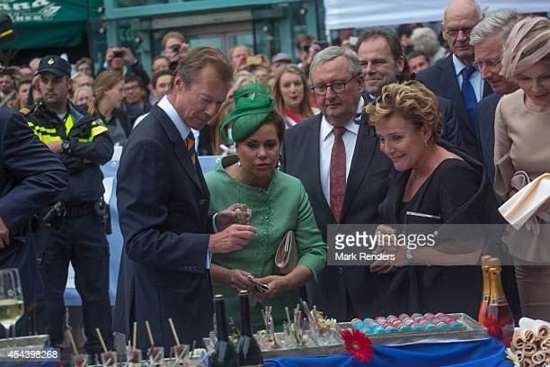 Grand Duke Henri and Grand Duchess Maria Teresa of Luxembourg attend celebrations marking the 200th anniversary of the kingdom of The Netherlands on...
