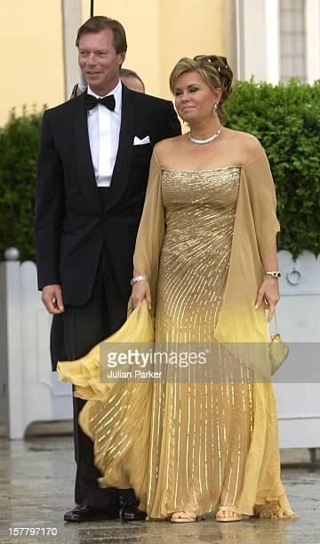 Grand Duke Henri Grand Duchess MariaTheresa Of Luxembourg Attend A Gala Dinner At The El Pardo Royal Palace In Madrid