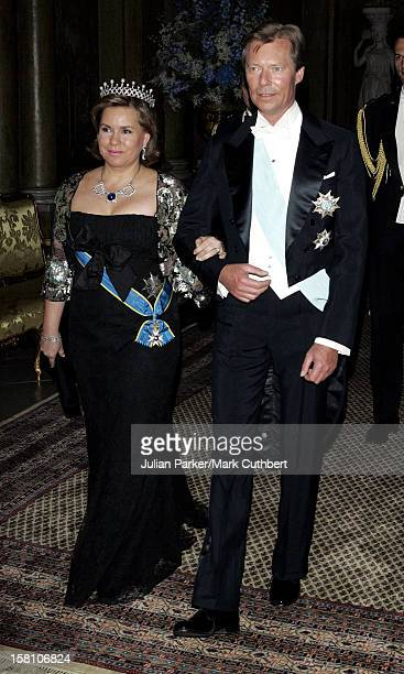 Grand Duke Henri Grand Duchess MariaTheresa Of Luxembourg Attend King Carl Gustaf Of Sweden'S 60Th Birthday CelebrationsGala Dinner At The Royal...