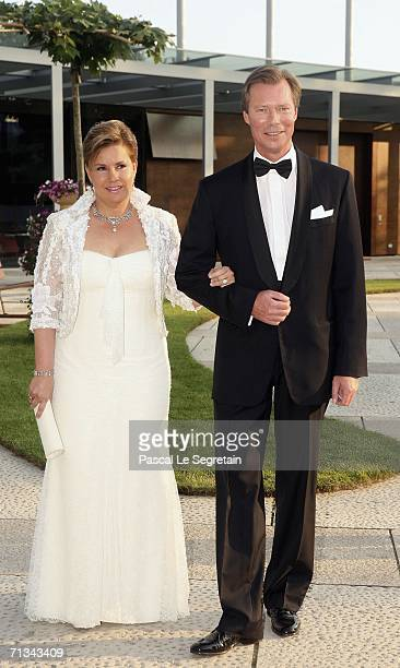 Grand Duke Henri of Luxembourg and Duchess Maria Teresa arrive at the Grand Theater to attend a special performance on June 30 2006 in Luxembourg as...