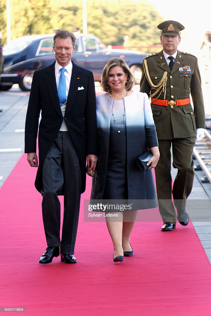 Grand Duke Henri of Luxembourg and Grand Duchess Maria Teresa of Luxembourg celebrate National Day at Philarmonie on June 22, 2016 in Luxembourg, Luxembourg.