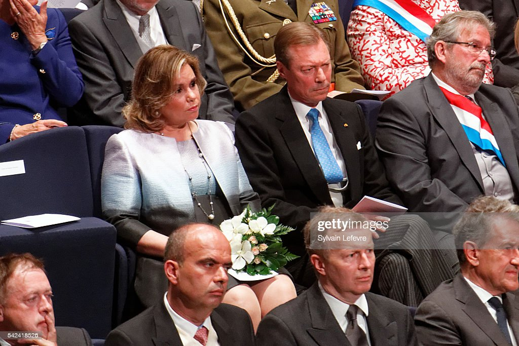 Grand Duke Henri of Luxembourg and Grand Duchess Maria Teresa of Luxembourg celebrate National Day 2 at Philarmonie on June 23, 2016 in Luxembourg, Luxembourg.