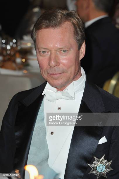 Grand Duke Henri of Luxembourg attends the Nobel Banquet at the City Hall on December 10 2011 in Stockholm Sweden
