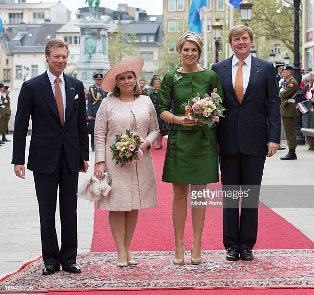 Grand Duke Henri of Luxembourg Grand Duchess Maria Teresa of Luxembourg Queen Maxima of The Netherlands and King Willem Alexander of The Netherlands...