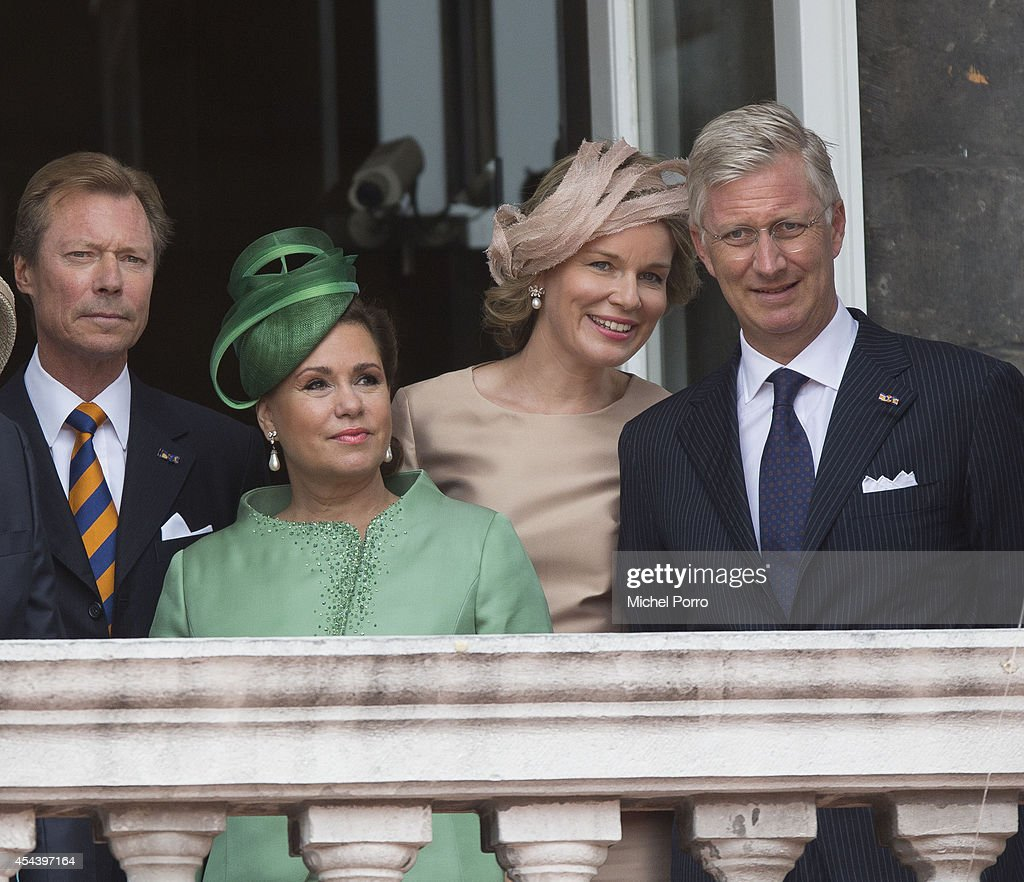 Grand Duke Henri of Luxembourg, Grand Duchess Maria Teresa of Luxembourg, Queen Mathilde of Belgium and King Philippe of Belgium attend celebrations marking the 200th anniversary of the kingdom of The Netherlandson August 30, 2014 in Maastricht, The Netherlands.