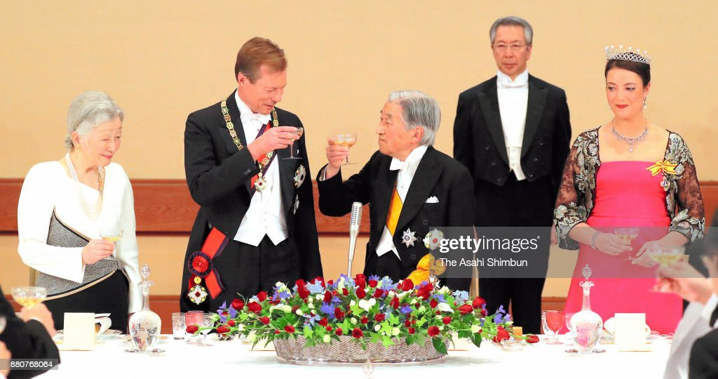 Grand Duke Henri Of Luxembourg Visits Japan - Day 1
