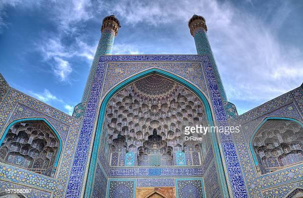 豪華なエントランスのマスジット-I イマムまたはサハフモスク