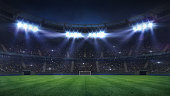 football stadium sport theme digital 3D background advertisement illustration my own design