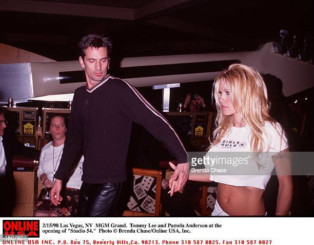 Grand Las Vegas NV Tommy Lee and Pamela Anderson at the opening of 'Studio 54'