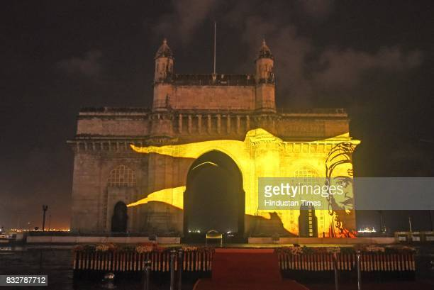 Grand laser show at Gateway of India about the journey of India's 70 year of independence narrated by Amitabh Bachchan and Nana Patekar on August 15...