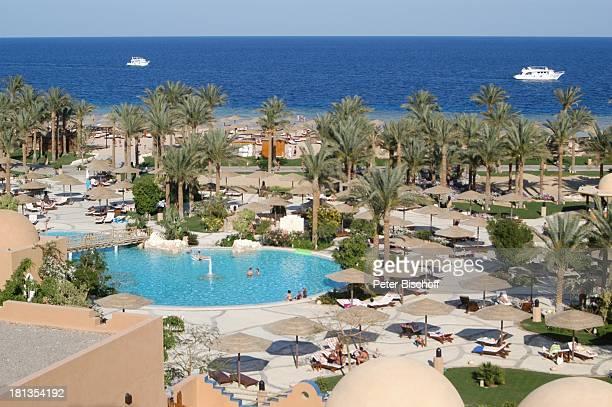 Grand Makadi Makadi Beach bei Hurghada Ägypten Afrika Rotes Meer Strand Pool Swimmingpool Palmen orientalisch Luxus Luxushotel ProdNr 523/2006 Reise